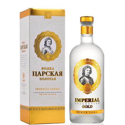 俄罗斯原瓶进口 沙皇伏特加金